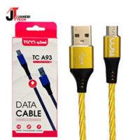 کابل تبدیل USB به microUSB تسکو مدل TC A93 طول ۱ متر