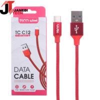 کابل تبدیل USB به USB-C تسکو مدل TC C12 طول ۱ متر