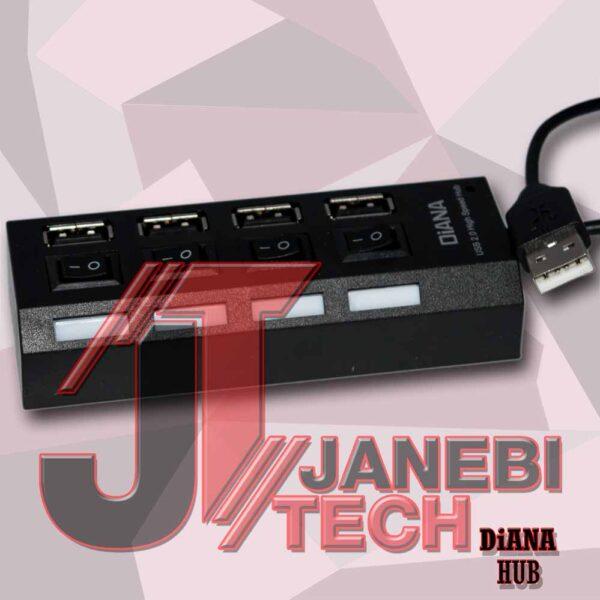 هاب DIANA 4-Port USB2.0 کلید دار