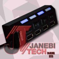 هاب DIANA 4-Port USB3.0 کلید دار