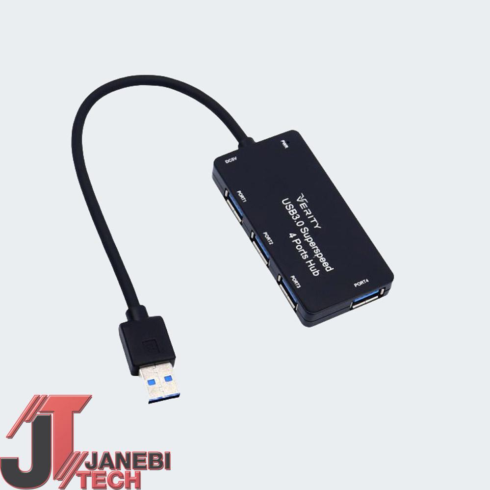 هاب ۴ پورت USB 3.0 وریتی مدل H402 مشکی